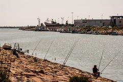 Pesca del fiume fotografia stock