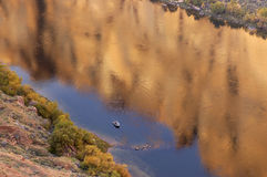 Pesca del fiume di colorado immagini stock