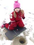 Pesca del ghiaccio Fotografia Stock Libera da Diritti