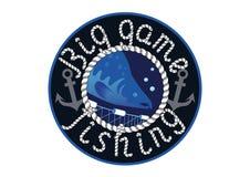 Pesca del gioco di Logo Big Fotografia Stock Libera da Diritti