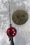 Pesca del hielo Imagen de archivo