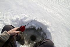 Pesca del hielo fotos de archivo libres de regalías