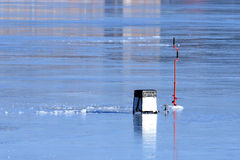 Pesca del hielo Imágenes de archivo libres de regalías