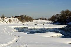 Pesca del hielo foto de archivo libre de regalías