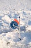 Pesca del hielo. Foto de archivo