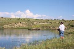 Pesca del hombre Imágenes de archivo libres de regalías