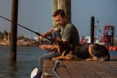 Pesca del hombre foto de archivo