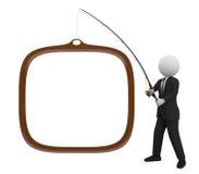 Pesca del hombre de negocios Imagen de archivo libre de regalías