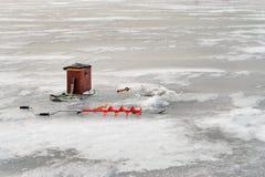 Pesca del invierno Fotografía de archivo libre de regalías