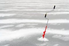 Pesca del invierno Fotos de archivo