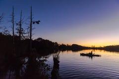 Pesca del kajak Imágenes de archivo libres de regalías