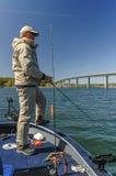 Pesca del luccio fotografie stock