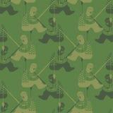Pesca del modelo militar Textura de la ropa del pescador Backg del ejército stock de ilustración