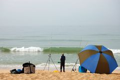 Pesca del océano de Portugal   fotos de archivo libres de regalías