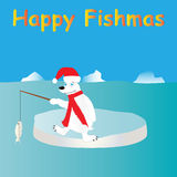 Pesca del oso polar ilustración del vector