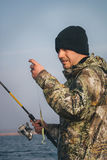 Pesca del pescador Fotografía de archivo