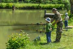 Pesca del pescatore Fotografie Stock