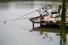 Pesca del piccolo bambino fotografia stock libera da diritti