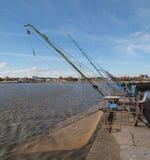 Pesca del porto, Saint Nazaire. Fotografie Stock Libere da Diritti
