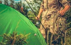 Pesca del punto del campo fotografie stock