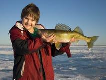 Pesca del ragazzo Fotografie Stock
