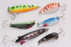 Pesca del richiamo, cucchiaio dell'esca immagini stock