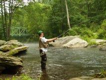 Pesca del tiempo de verano fotografía de archivo libre de regalías