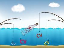 Pesca del trabajo ilustración del vector