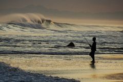 Pesca dell'oceano fotografia stock libera da diritti