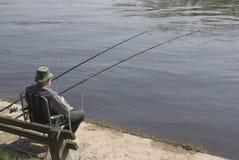 Pesca dell'uomo Immagine Stock Libera da Diritti
