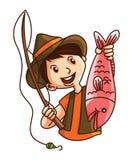 Pesca dell'uomo illustrazione di stock