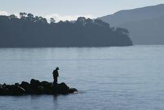 Pesca della baia Fotografie Stock