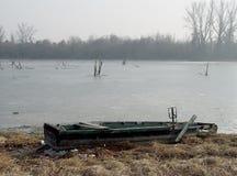Pesca della barca di legno Fotografia Stock