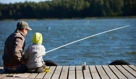 Pesca della famiglia Fotografia Stock Libera da Diritti
