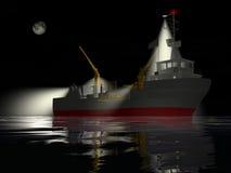 Pesca della nave alla notte Immagine Stock Libera da Diritti