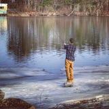 Pesca della primavera Fotografia Stock Libera da Diritti