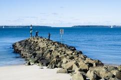 Pesca della roccia Immagini Stock Libere da Diritti