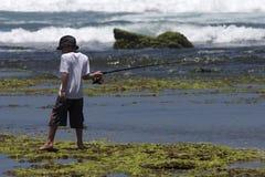 Pesca della scogliera immagine stock libera da diritti