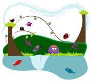 Pesca della sorgente Immagini Stock Libere da Diritti