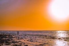Pesca della spiaggia Fotografie Stock Libere da Diritti