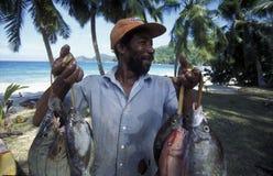 PESCA DELLE SEYCHELLES DELL'OCEANO INDIANO Fotografia Stock