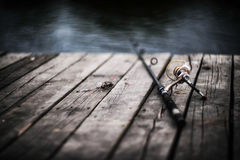 Pesca di autunno in Russia, Immagine Stock