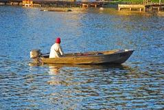 Pesca di caduta Fotografia Stock Libera da Diritti