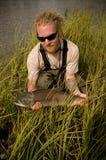 Pesca di color salmone nell'Alaska Immagine Stock
