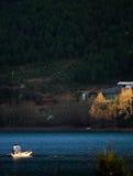 Pesca di crepuscolo Fotografia Stock