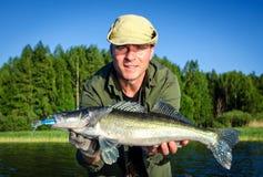 Pesca di estate dei glaucomi in Scandinavia immagini stock libere da diritti