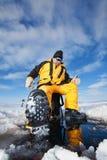 Pesca di inverno Fotografia Stock Libera da Diritti