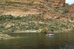Pesca di lago canyon Fotografie Stock Libere da Diritti