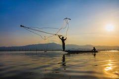 Pesca di lancio Fotografia Stock