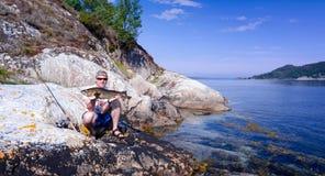 Pesca di merluzzo in Norvegia Fotografie Stock